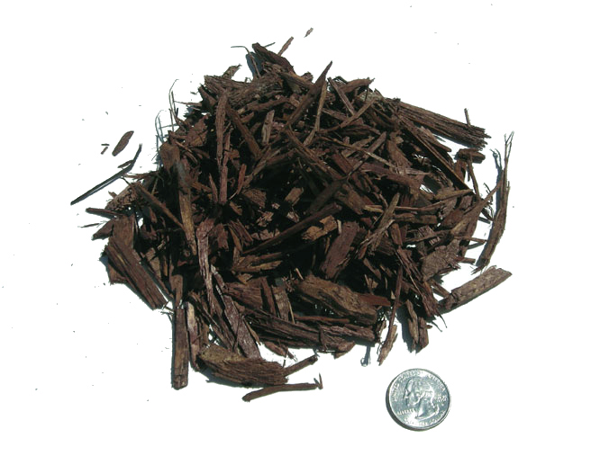 Mulch - brown dye chips